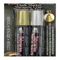 Marvy Uchida Bistro 2 pk Chisel Tip Chalk Markers-Metallic Gold & Silver
