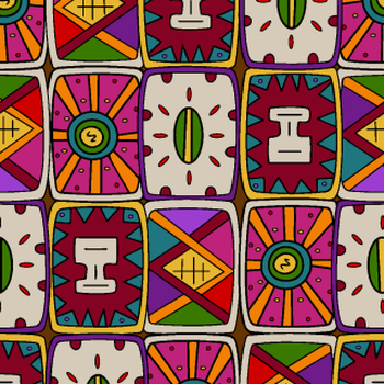 Tribal emblem shield shapes