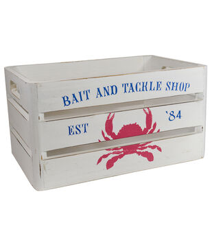Organizing Essentials Small Wood Crate-Bait & Tackle Shop