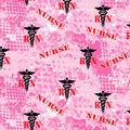Nurse Cotton Fabric-Abstract Geo Logo