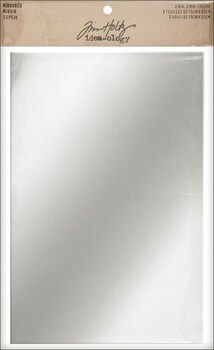 """Idea-Ology Adhesive Backed Mirrored Sheets 6""""X9"""" 2/Pkg-"""
