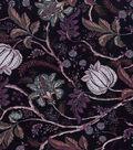 Vintage Cotton Fabric 43\u0022-Jacobean Dark Purple