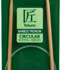 Takumi Bamboo Circular Knitting Needles 24\u0022-Size 3/3.25mm
