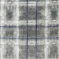 Anti-Pill Plush Fleece Fabric-Distressed Gray Plaid