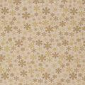 Christmas Cotton Fabric-Flakes On Tan Metallic 4