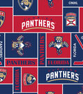 Florida Panthers Fleece Fabric 60\u0027\u0027-Block