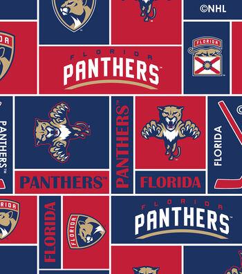 Florida Panthers Fleece Fabric 60''-Block