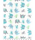 Nursery Flannel Fabric 42\u0027\u0027-Adventure Animals Tossed
