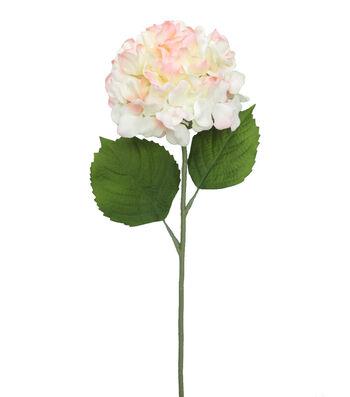 Fresh Picked Spring 26'' Hydrangea Stem-Cream & Pink