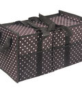 Two Lumps of Sugar Trunkey Pal Trunk Tote-White Dots on Brown