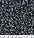 Keepsake Calico Cotton Fabric 43\u0022-Tiny Floral on Black