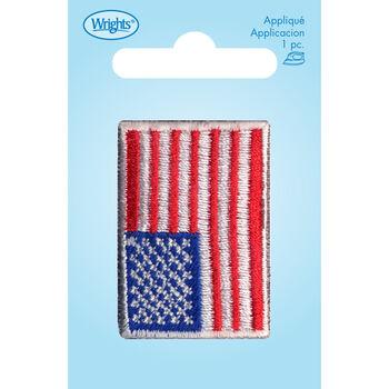 Wrights Iron-On Applique-USA Flag