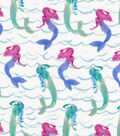 Novelty Cotton Fabric-Oceanic Mermaids Metallic
