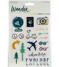 My Mind\u0027s Eye Wander 23 pk Puffy Stickers