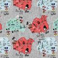 Disney Cotton Fabric-Mickey & Minnie Map