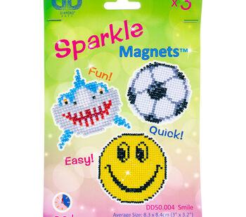 Diamond Dotz Diamond Magnets Facet Art Kit-Assorted Smile 3/Pkg
