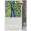 Dimensions Colorful Peacock Mini Stitched In Thread Needlepoint Kit