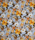 Homestead Crinkle Cotton Fabric-Blue Romantic Floral