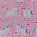 Novelty Cotton Fabric 43\u0022-Unicorns & Hearts