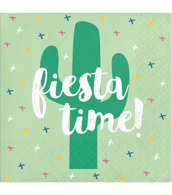 Cactus 20 pk 5''x5'' Beverage Napkins-Fiesta Time!