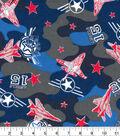 Snuggle Flannel Fabric 42\u0027\u0027-Red & Blue Airplane Camouflage