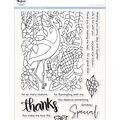 Pinkfresh Studio 17 pk Photopolymer Clear Stamps-Let\u0027s Flamingle