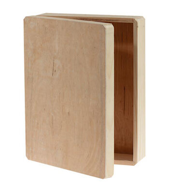 "Wood Memory Box Hinged-12""X9.125""X3.25"""