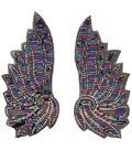 Wings Blue-Purple Sequin Applique