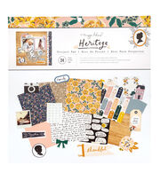 "American Crafts Maggie Holmes 12""x12"" Paper Pad-Heritage, , hi-res"
