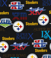 """Pittsburgh Steelers Cotton Fabric 44""""-Champion Legacy, , hi-res"""