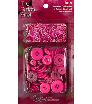 The Button Artist Buttons & Beads Azalea