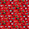 Snuggle Flannel Fabric-Holiday Dachshunds in Sweaters
