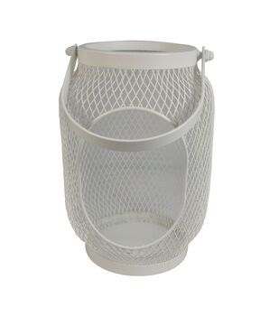 Seaport Large Metal Canister-Cream