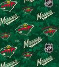 Minnesota Wild Fleece Fabric 60\u0022-Digital