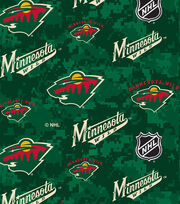 Minnesota Wild Fleece Fabric-Digital, , hi-res