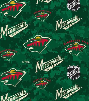 "Minnesota Wild Fleece Fabric 60""-Digital"