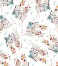 Premium Prints Cotton Fabric 43\u0022-Tossed Musical Llamas