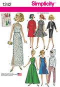 Simplicity Pattern 1242OS One Size -Doll Clothes