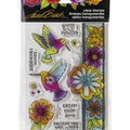 Stampendous Laurel Burch Clear Stamps-Hummingbird Wishes