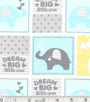 Nursery Flannel Fabric -Dream Big Patch