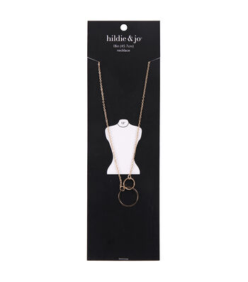 hildie & jo Minimalist 18'' Necklace with Circle Charm-Gold
