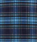 Anti-Pill Plush Fleece Fabric-Aqua Navy Distressed Plaid