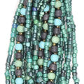hildie & jo Glass Multi Strand Seed Strung Beads-Green