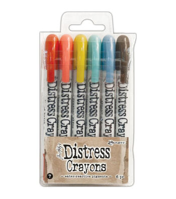 Tim Holtz Pack of 6 Distress Crayons-Set #7
