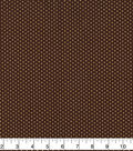 Harvest Cotton Fabric-Brown Dots