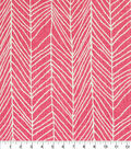 Home Essentials Lightweight Decor Fabric 45\u0022-Decatur Fuschia
