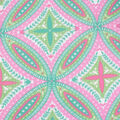 Blizzard Fleece Fabric-Pink & Green Medallions