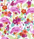Snuggle Flannel Fabric -Pretty Flamingo