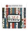 Carta Bella Double-Sided Paper Pad 6\u0022X6\u0022 24/Pkg-Let It Snow, 12 Designs
