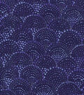 Keepsake Calico Cotton Fabric 43\u0022-Navy Scallop